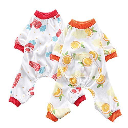 Oncpcare Hunde-Pyjama aus weicher Baumwolle, Karotte + Orange, 2 (Karotte Kostüm Hunde)