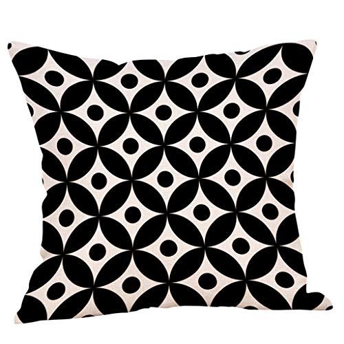 Dtuta Federa - Art Color Geometric Print Polyester Square Pillow Case Car Sofa Confortevole Soft Decorazione Domestica Cuscini Decorativi e Accessori