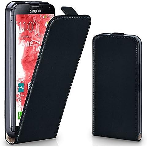 Bolso OneFlow para funda Samsung Galaxy Note 3 Cubierta con imán | Estuche Flip Case Funda móvil plegable | Bolso móvil protección móvil paragolpes funda protectora con cubierta en Nero