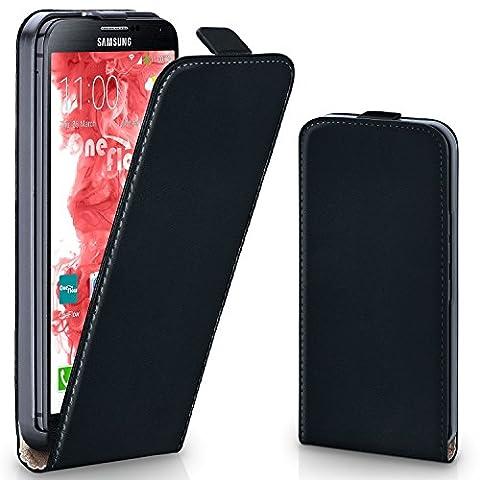 Pochette OneFlow pour Samsung Galaxy Note 4 housse Cover magnétique   Flip Case étui housse téléphone portable à rabat   Pochette téléphone portable téléphone portable protection bumper housse de protection avec coque en DEEP-BLACK
