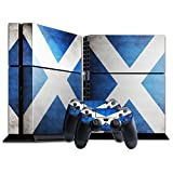 Stillshine Vinyl Decal Full Body Skin Sticker For Sony Playstation 4 PS4 console x 1 and controllers x 2 (Flags Scotland)