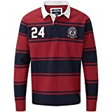 TOG 24 - Polo De Rugby Homme Richie Rio Rouge/Bleu Nuit A Rayures - - -