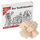 Bartl 102573 Mini-Holz-Puzzle Der Teufelsknoten aus 6 kleinen Holzteilen