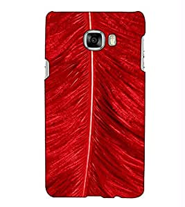 Fuson Designer Back Case Cover for Samsung Galaxy C5 SM-C5000 (Red Feather theme)