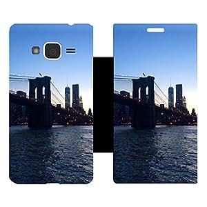 Skintice Designer Flip Cover with Vinyl wrap-around for Samsung Galaxy J3 (2016), Design - East River