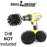 Drillbrush Heavy Drill Corredo alimentato spazzola di pulizia Duty nylon utilizzati per la pulizia griglie per barbecue nero