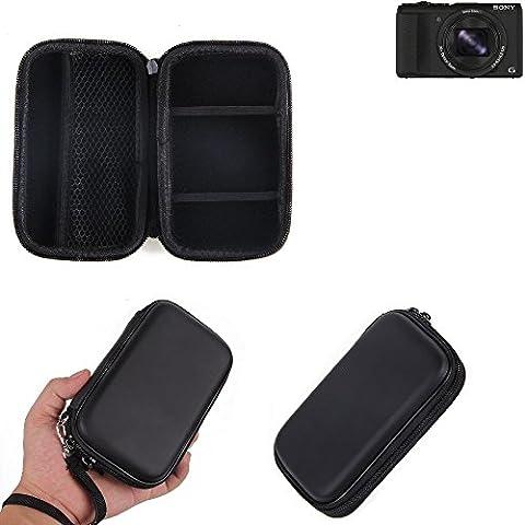 Hard Case, mallette de transport, housse de protection pour appareil photo Sony Cyber-shot DSC-HX60, avec espace pour des cages de mémoire, batterie de rechange, chargeur cage, etc. | sacoche choc poids léger sac de protection preuve -