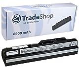 Hochleistungs Notebook Laptop Akku 6600mAh ersetzt BTY-S11 BTY-S12 BTYS11 BTYS12 für LG X110 X-110 MSI Wind U90 U100 U-90 U-100 Medion Akoya 1210 Mini E1210 E-1210 MyBook M11 Freedom