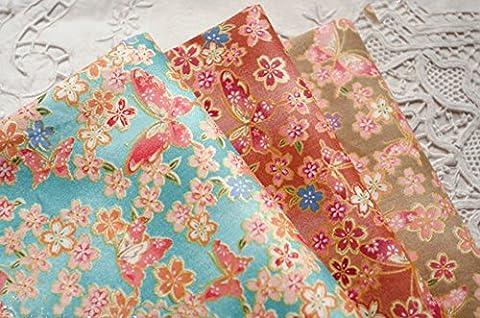 3PC différent modèle japonais de cerise de style tissu de