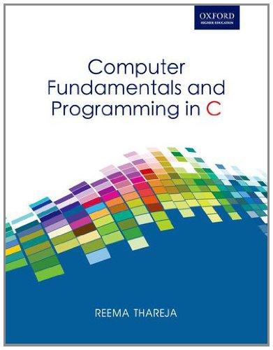 Pdf] Read Computer Fundamentals Programming in C By - Reema Thareja