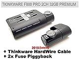 Thinkware F800 Pro 2CH Premium - Juego de 32GB + 2 fusibles y cableado