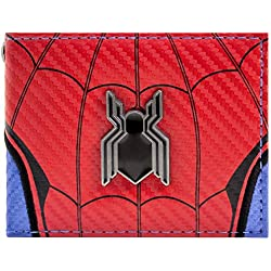Cartera de Marvel Spider-Man Logotipo de regreso a casa rojo