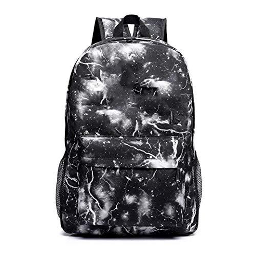 bfc06c4388135 SUMMER BOUTIQUE Luminous Galaxy Canvas Waterproof School Bag Boys Girls  Teens Cool Glow in The Dark