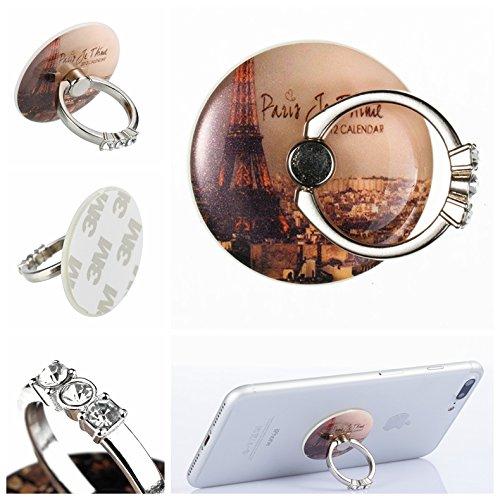 Preisvergleich Produktbild Handyhalterung Handy Ring, Alfort 360° Kristall Griff Halterung Ständer Handy Ring für iPhone, Samsung, Sony, Huawei und Alle anderen Telefone, Tabletten ( Turm )
