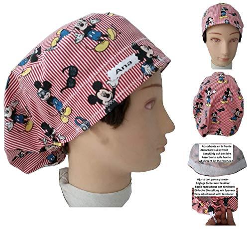 Surgical caps, Haube, kappe, Medizinische, küche, Für lange Haare. Mickey Maus. Mit Ihrem Namen auf freie Optionen.