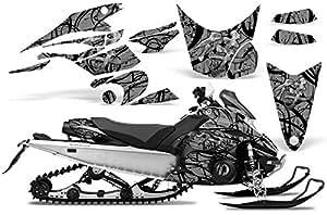 CreatorX Yamaha Fx Nytro 2008-2014 Snowmobile Sled Graphics Kit Samurai Black Silver