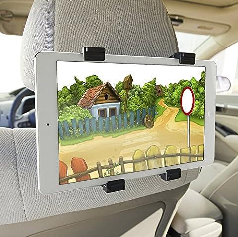 """Color Dreams® Universal Tablet Auto/KFZ Halterung für die Kopfstütze, Universal KFZ Auto Halterung Halter, 100% Garantie Austausch von Komponenten beschädigt frei, Drehung um 360 °, extrem sicher, verstellbar verschiedenen Größen, Es ermöglicht eine sichere und einfache Montage auf jede Kopfstütze für iPad 2/3/4/ , Ipad Air, Ipad Mini, Galaxy Tab/Tab S/Note Pro, Nexus 7, Kindle Fire HD 6/7 Fire HDX 7/8.9 Fire 2 und Tablet-PCs bis zu 14 """""""