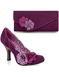 Ruby Shoo Women's April Court Shoe Pumps & Matching Cairo Bag