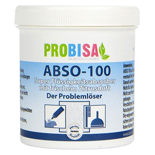 ABSO 100 - PROBISA Super Flüssigkeitsabsorber zur Bindung von Erbrochenem, Urin und Kot mit frischem Zitrusduft (Gerüche Haustier Beseitigen)