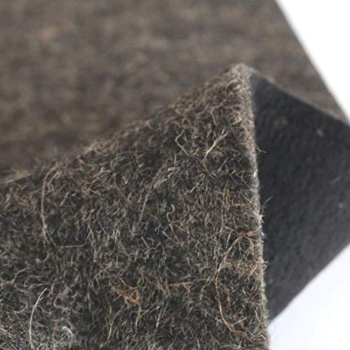 TOLKO 50cm Filzstoff als Dämmstoff Isolierstoff und Polsterstoff Meterware   1cm dick   Formstabil Reißfest Abriebfest   Robuster Bezugstoff/Möbelstoff aus Filz, 130cm breit (Grau meliert - Filz)