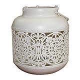 Leisial Kreatives Hängend Kerzenhalter Hochzeit Teelichthalter Metall Teelichthalter Weiß Vintage Windlichthalter Hochzeit 13*13*23.5CM