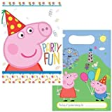 8 Peppa Pig Cute Carnival Birthday Children's Party Favour Plastic Loot Bags