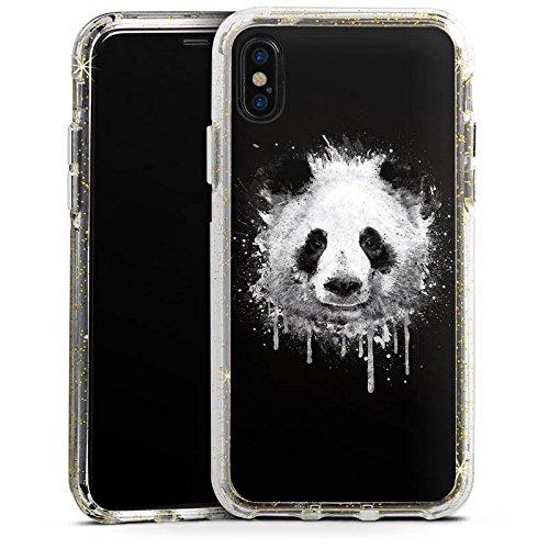 Apple iPhone 6s Bumper Hülle Bumper Case Glitzer Hülle Panda Baer Bear Bumper Case Glitzer gold