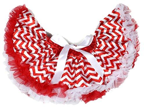 Red White Chevron Newborn Baby Pettiskirt Skirt Tutu Dress Girl Clothing Nb-12m (One Size)