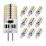 DiCUNO G4 LED Lampe 3W, Warmweiß 3000K, AC/DC 12 V mit 230 LM, Ersatz für 20W-25W Halogen Lampen, undimmbares Leuchtmittel, 10-er Pack