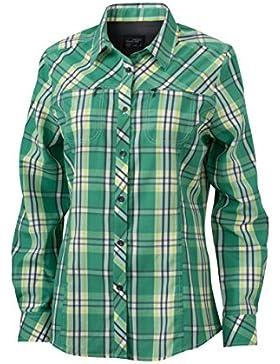 James & Nicholson Ladies' Uv-Protect Trekking Shirt Long-Sleeved, Blusa para Mujer