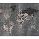 murando - Fototapete Weltkarte 300x210 cm - Vlies Tapete - Moderne Wanddeko - Design Tapete - Wandtapete - Wand Dekoration - Welt Karte k-A-0057-a-d
