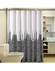 D G F Cortina de ducha de poliéster Baño interior creativo Impermeable Anti-niebla Alfabeto Torres Cortinas de ducha Multi-tamaño Opcional ( Tamaño : 180*180cm )