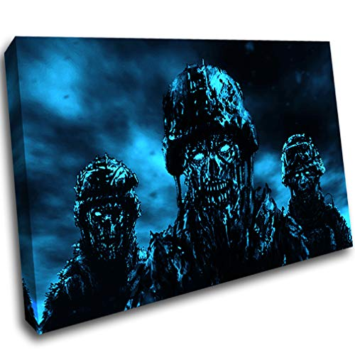 LoveSticker AQ496 Leinwandbild, Motiv Zombie-Soldaten, Horror Gothic, gerahmt, 16x24inch (40x60cm)