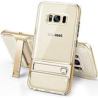 Galaxy S8Caso, Galaxy S8Tpu caso, ikasus [soporte Función atril] carcasa fina Shock-absorción y anti-scratch transparente suave cristal TPU protectora teléfono móvil funda para Samsung Galaxy S8,