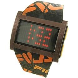 Fila 773030 Men's Wristwatch, Plastic Strap (Brown)