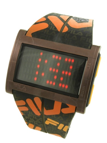 Fila 773030 - Orologio da polso da uomo, cinturino in plastica colore marrone