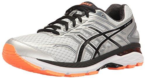 Preisvergleich Produktbild ASICS Men's GT-2000 5 Running Shoe, Silver/Black/Hot Orange, 8 M US