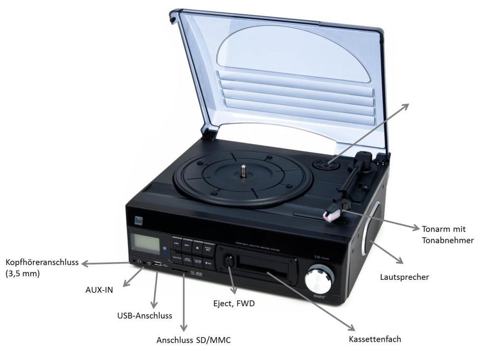 dual dttc 100 schallplatten und kassetten player direct. Black Bedroom Furniture Sets. Home Design Ideas