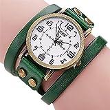 Hot Selling! CCQ Brand Vintage Cow Leather Bracelet Watch Men Women Wristwatch Quartz - B07H76TRSY