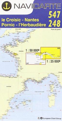 Carte marine : Le Croisic - Nantes - Pornic