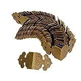 Eckenschutz, Antik-Optik, Schutz für Möbel, Schmuckkästchen, goldfarben, 100 Stück