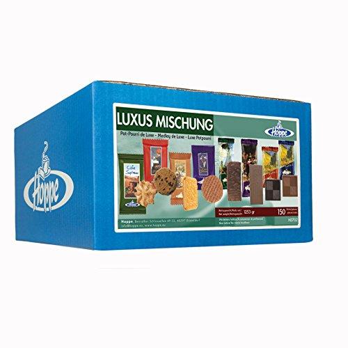 Hoppe Luxus Mischung, Kekse, Plätzchen, 8 Sorten Gebäck, einzeln verpackt, 150 Stück, 1253g