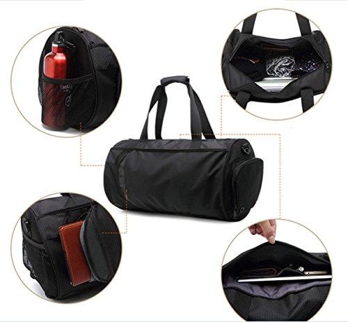 LAIDAYE Männer Sport Und Freizeit Reisetasche Tragbaren Umhängetasche Sporttasche Fitnesstasche Große Kapazität Handtasche Black