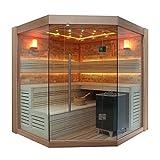 EO-SPA Sauna B1415C rote Zeder/180x180/9kW EOS BiO-Cubo