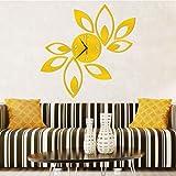 Moginp Wandaufkleber, Wandtattoo Blume Lotus DIY 3D Wandsticker Kunst Acryl Spiegel Wanduhr DIY (B)