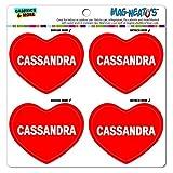 Mag-Neato 's-TM Auto Kühlschrank Vinyl Magnet Set I love Herz Namen weiblich C Carl, Cassandra