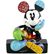 Enesco 4044114 Disney by Romero Britto Mickey Sitting Mini Figurine, mehrfarbig