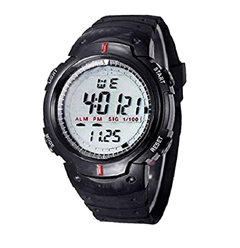 E-DEAL Sports Digital Black Dial Men's Watch with Stopwatch and Alarm