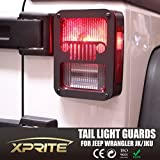 Xprite 2007 - 2016 Jeep Wrangler JK Unlimited Black Light Guard JEEP FRONT GRILL For Rear Taillights Tail Light Cover - Pair by Xprite