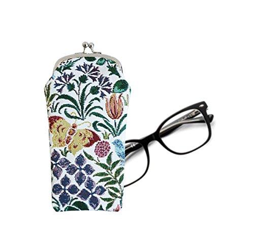 Modische Tapisserie Damen Brillenetui in Signare Stil Frühlingsblume